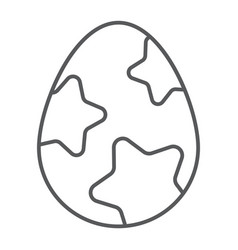 easter egg thin line icon easter and food egg vector image