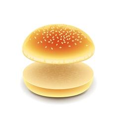 Empty hamburger isolated on white vector