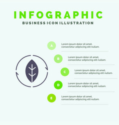 Energy green source power solid icon infographics vector