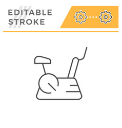 exercise bike line icon vector image