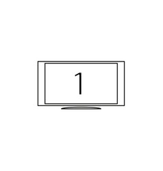 first monitor line icon vector image
