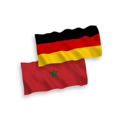 Flags morocco and germany on a white background vector