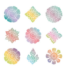 Floral thai set vector