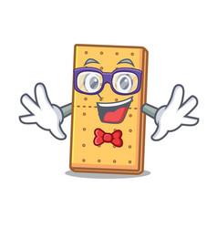 Geek graham cookies character cartoon vector