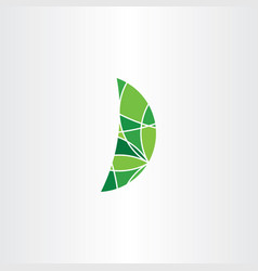 geometric green leaf logo icon element symbol sign vector image