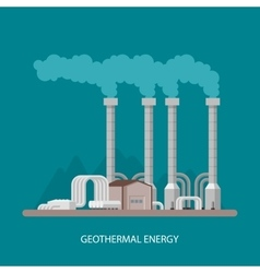 Geothermal power plant and factory Energy vector