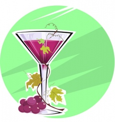 grape wine vector image