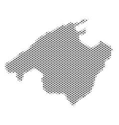 Halftone grey spain mallorca island map vector