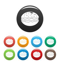 hamburger icons set color vector image