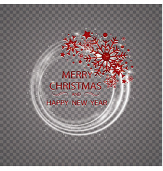 happy new year merry christmas greeting card vector image