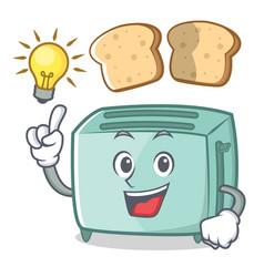 Have an idea toaster character cartoon style vector