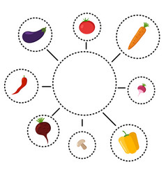 healthy eating infographics vector image
