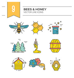 Honey items vector