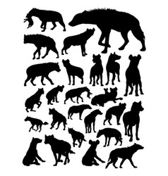 Hyena animal detail silhouette vector