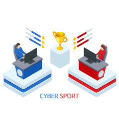 isometric cybersport or electronic sports e vector image