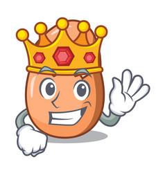 King broken egg isolated on the mascot vector