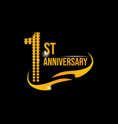 Logo 1st anniversary vector
