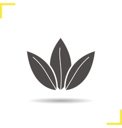Loose tea leaves icon vector
