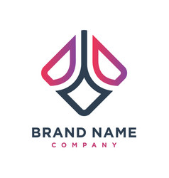 marketing and financial business logo design vector image