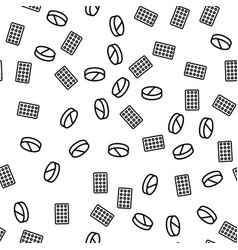 Medicines pills and drugs seamless pattern vector