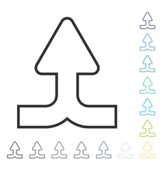 Merge arrow up icon vector