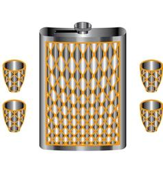 Metallic flask vector image