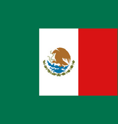 mexico flag icon in flat style mexican national vector image