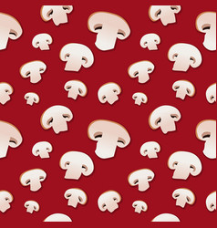Mushrooms seamless background botany cooking vector