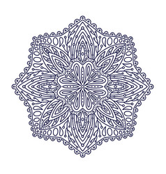 ornamental mandala tattoo art design linear vector image