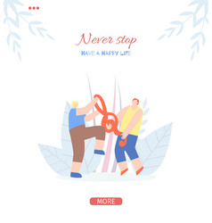 People motivate never stop landing page template vector