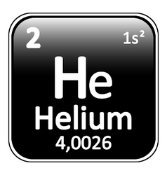 Periodic table element helium icon vector