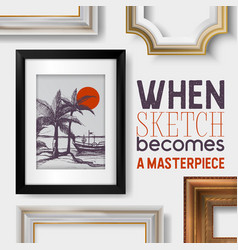 picture framing banner poster vector image