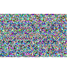 Pixel noise background tv screen glitch texture vector