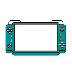 Portable video game console icon image vector