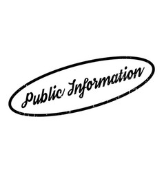 Public information rubber stamp vector