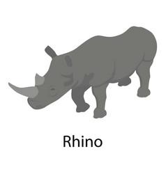 rhino icon isometric style vector image