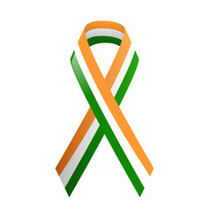 ribbon india national colors vector image