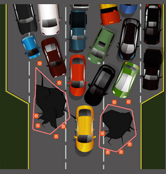 road accident image vector image