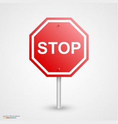 road stop sign vector image