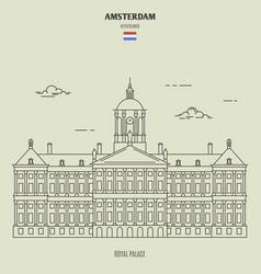 royal palace in amsterdam vector image