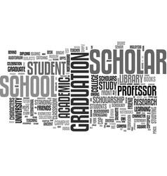 Scholar word cloud concept vector