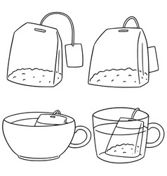 set of teabag vector image