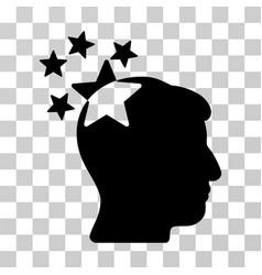 stars hit head icon vector image