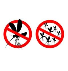 Stop mosquito Forbidden swarm mosquitoes Frozen vector