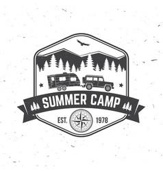 Summer camp concept for shirt or logo vector