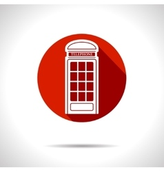 telephone box icon Eps10 vector image