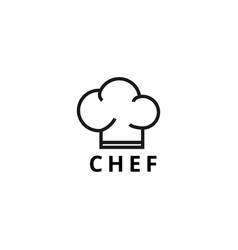 the chef logo design template vector image