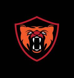 Tiger head symbol vector