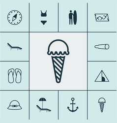 tourism icons set collection of camping house vector image