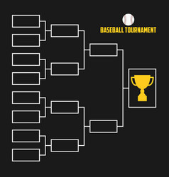Tournament bracket baseball championship scheme vector